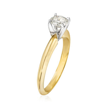 .50 Carat Diamond Solitaire Ring in 14kt Yellow Gold. Size 5