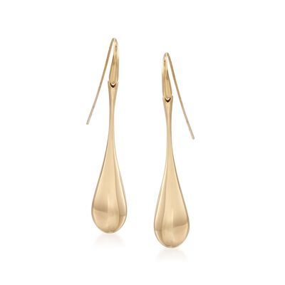 Roberto Coin 18kt Yellow Gold Teardrop Wire Earrings , , default