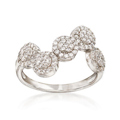 1.00 ct. t.w. Pave CZ Multi-Circle Ring in Sterling Silver, , default