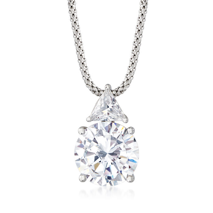 6.75 ct. t.w. CZ Pendant Necklace in Sterling Silver