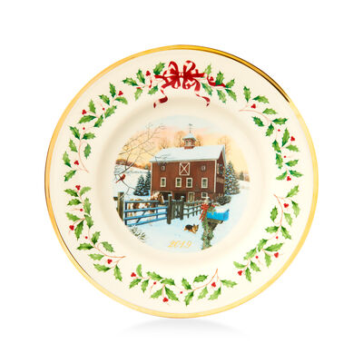 Lenox 2019 Annual Porcelain Christmas Plate - 29th Edition, , default