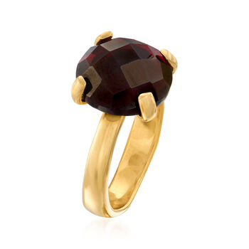 5.75 Carat Garnet Ring in 18kt Gold Over Sterling