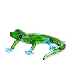 Swarovski Crystal Green and Blue Crystal Gecko Figurine, , default