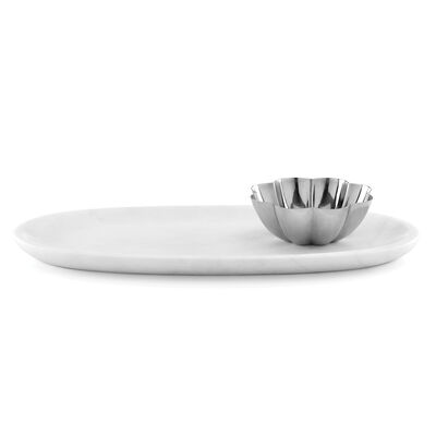 "Kate Spade New York ""Gramercy"" Marble and Metal Platter and Bowl Set, , default"