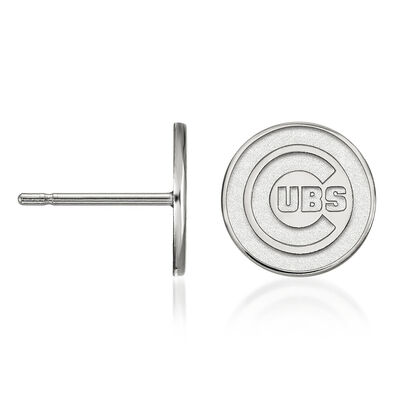 Sterling Silver MLB Chicago Cubs Extra Small Stud Earrings, , default