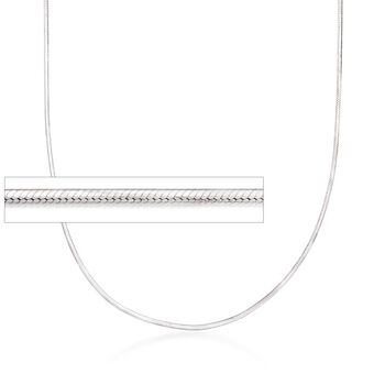 "Italian 1.2mm Sterling Silver Adjustable Slider Square Snake Chain Necklace. 24"", , default"