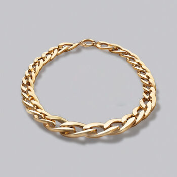 """Italian 14kt Yellow Gold Graduated Oval-Link Necklace. 20.5"""", , default"""