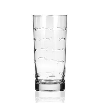 "Rolf Glass ""School of Fish"" Set of 4 Highball Glasses, , default"