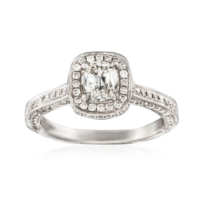 Henri Daussi 1.37 ct. t.w. Diamond Engagement Ring in 14kt White Gold, , default