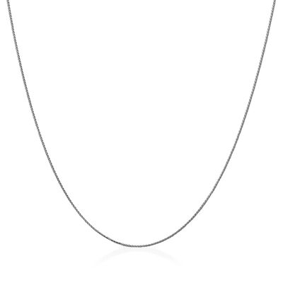 14kt White Gold Wheat Chain Necklace, , default