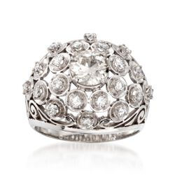 C. 1970 Vintage 1.50 ct. t.w. Diamond Ring in Platinum. Size 6, , default