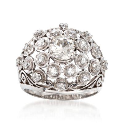 C. 1970 Vintage 1.50 ct. t.w. Diamond Ring in Platinum, , default