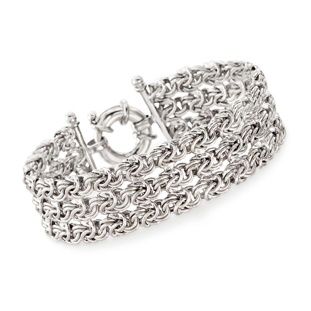 a01927d6f13d0 Italian Sterling Silver Three-Strand Byzantine Bracelet   Ross-Simons