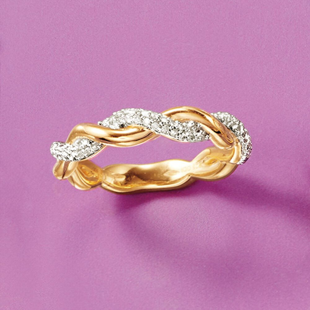 10 ct. t.w. Diamond Twist Ring in 18kt Yellow Gold Over Sterling ...