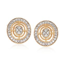.20 ct. t.w. Diamond Circle Earrings in 14kt Yellow Gold, , default