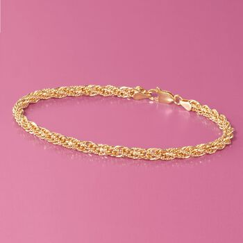 14kt Yellow Gold Rope Bracelet, , default