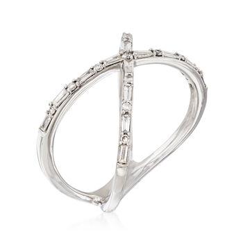 29 ct. t.w. Diamond Crisscross Ring in 14kt White Gold, , default
