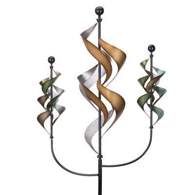 """Regal """"Triple Waterfalls"""" Metal Outdoor Wind Spinner"""