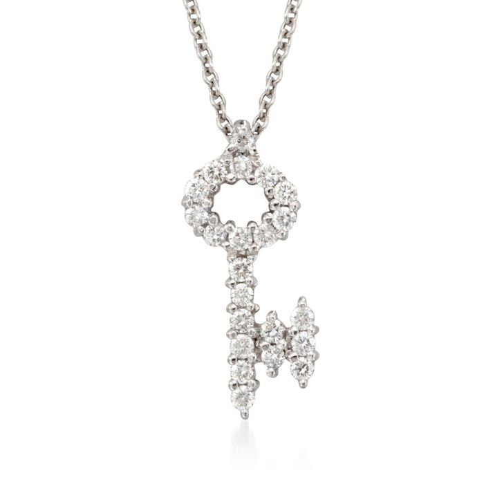"""Roberto Coin """"Tiny Treasures"""" .16 ct. t.w. in 18kt White Gold"""