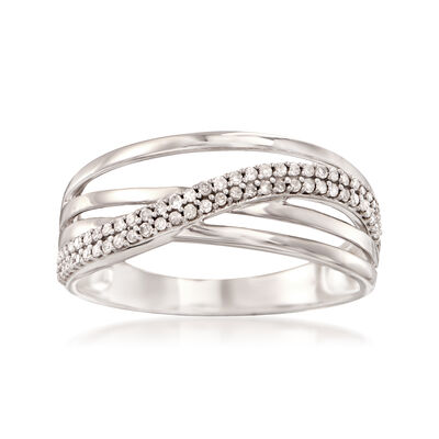 .20 ct. t.w. Diamond Multi-Band Ring in 14kt White Gold, , default