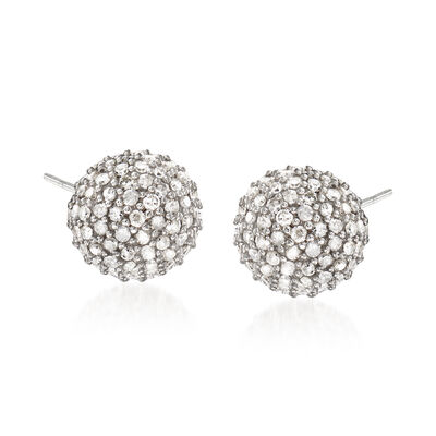 1.00 ct. t.w. Diamond Stud Earrings in Sterling Silver, , default