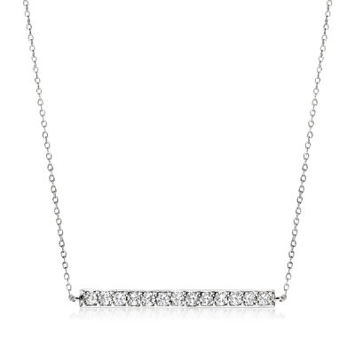 1.00 ct. t.w. Diamond Bar Necklace in 14kt White Gold