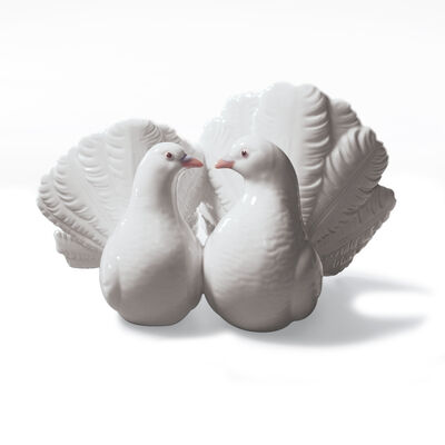 "Lladro ""Couple of Doves"" Porcelain Figurine, , default"