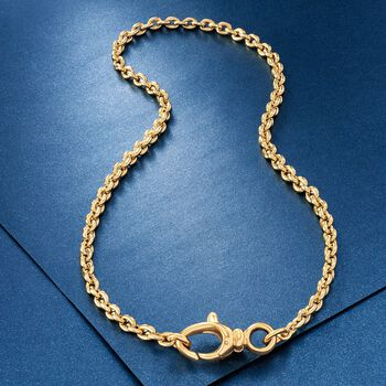 "Italian Andiamo 5mm 14kt Yellow Gold Rounded Cable Chain Necklace. 20"", , default"
