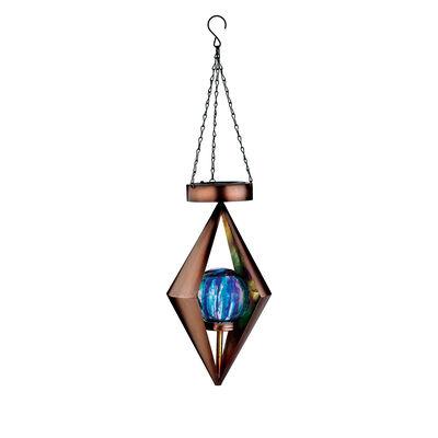 Regal Set of 2 Solar Diamond Lanterns, , default