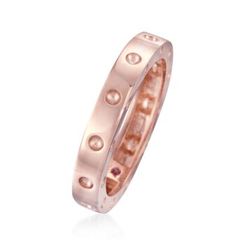 "Roberto Coin ""Pois-Moi"" 18kt Rose Gold Dotted Ring. Size 7, , default"