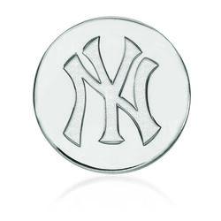 14kt White Gold MLB New York Yankees Lapel Pin, , default