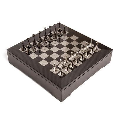 """Brouk & Co. """"Carbon Fiber"""" Chessboard Set"""