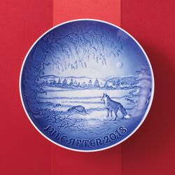 Bing & Grondahl 2018 Annual Porcelain Christmas Plate - 124th Edition, , default