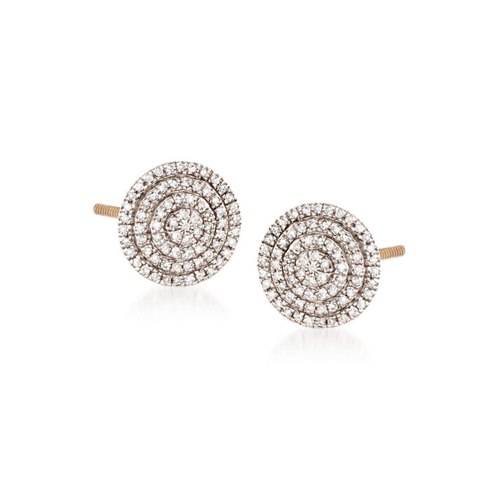 .20 ct. t.w. Diamond Circle Stud Earrings in 14kt Yellow Gold, , default