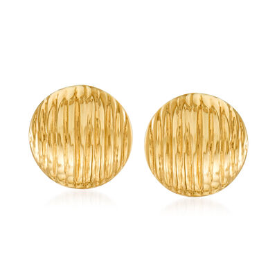 14kt Yellow Gold Circle Stud Earrings