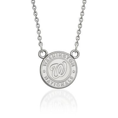 Sterling Silver MLB Washington Nationals Pendant Necklace. 18""