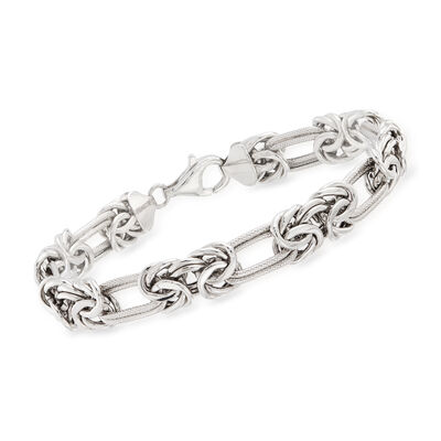 Sterling Silver Byzantine Double-Link Bracelet