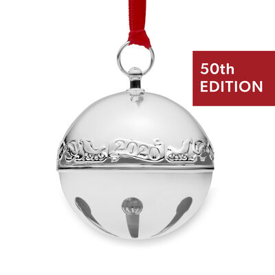 Wallace 2020 Annual Silver Plate Sleigh Bell Ornament - 50th Edition