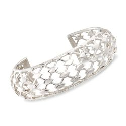 "Zina Sterling Silver ""Casablanca"" Cuff Bracelet. 7"", , default"