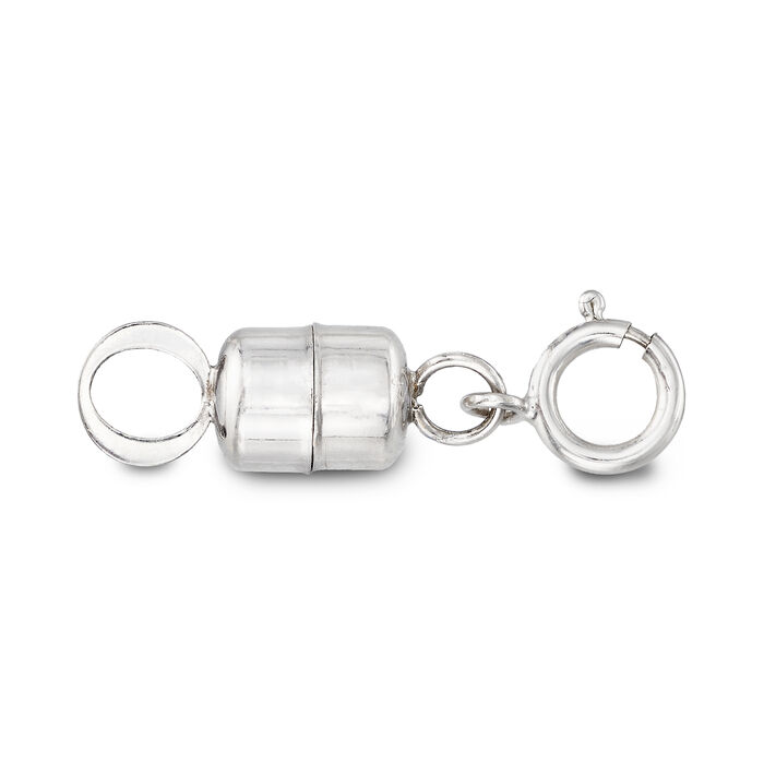 Italian 14kt White Gold Magnetic Clasp Converter, , default