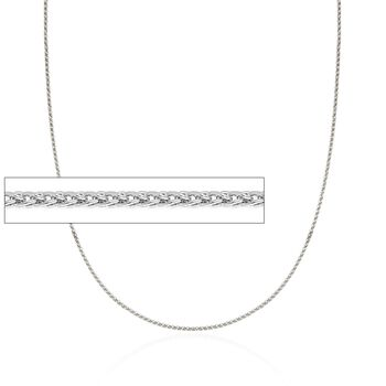 """1.2mm 14kt White Gold Wheat Chain Necklace. 18"""", , default"""