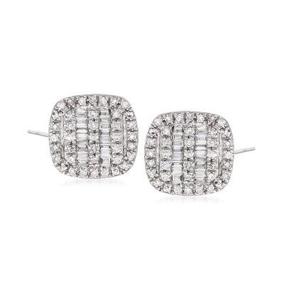 .35 ct. t.w. Diamond Stud Earrings in 14kt White Gold