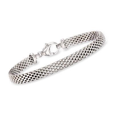 Italian Sterling Silver Popcorn-Link Bracelet, , default