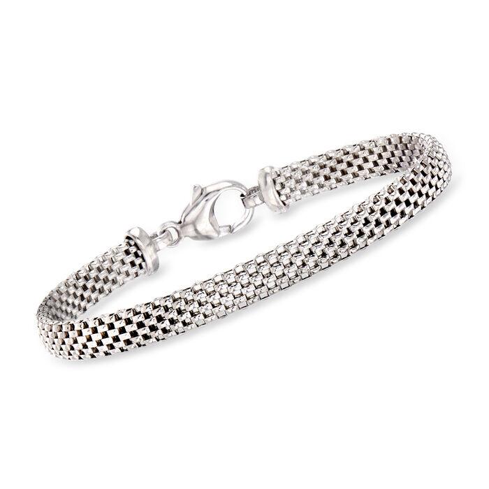 Italian Sterling Silver Popcorn-Link Bracelet