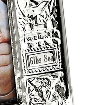 Cunill Italian Sterling Silver Personalized Birth Record Picture Frame
