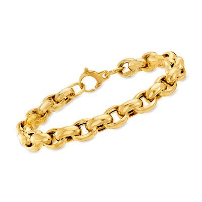 18kt Yellow Gold Interlocking-Link Bracelet