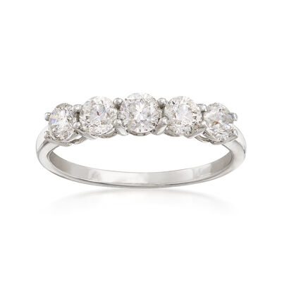 1.00 ct. t.w. Diamond Five-Stone Ring in Platinum