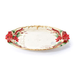 "Fitz and Floyd ""Cardinal"" Christmas Centerpiece Plate, , default"