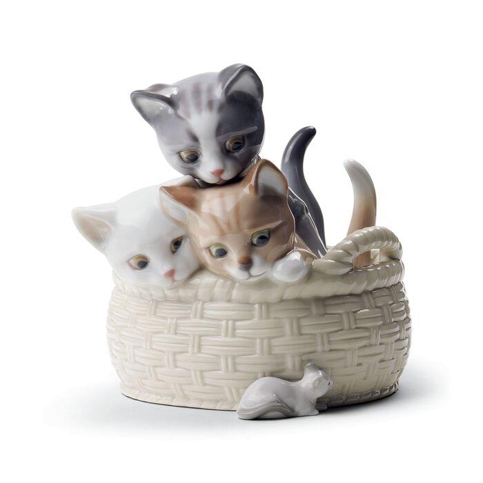 "Lladro ""Curious Kittens"" Porcelain Figurine, , default"