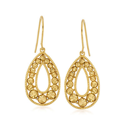 18kt Gold Over Sterling Teardrop Earrings